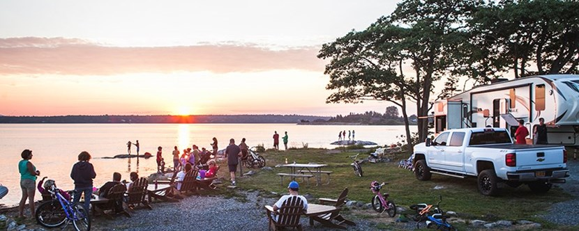 Watch the sunset at Bar Harbor Oceanside.
