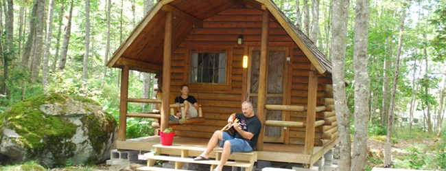 Relax and stay awhile in our Rustic Cabins
