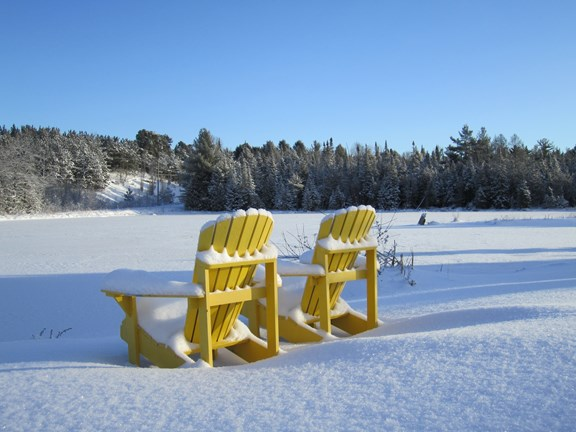 A seat with a view at Barrie KOA Campground.