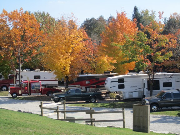 Fall moves in at Barrie KOA Campground