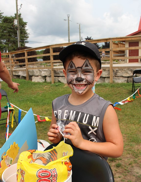 Face painting fun @ the Barrie KOA