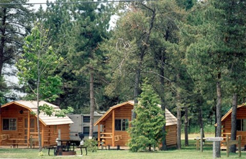 Cozy Camping Cabins at Barrie KOA Campground