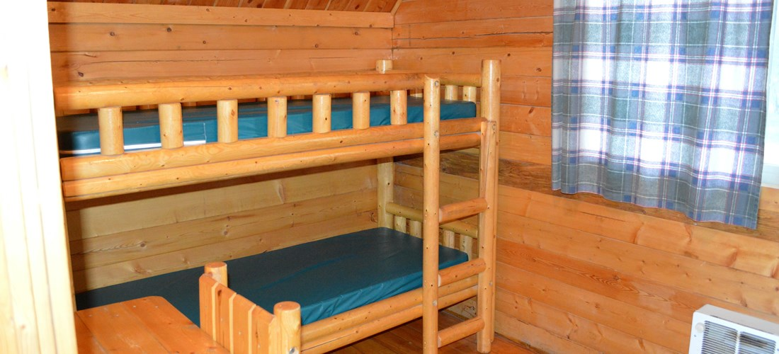 1st set of bunk beds in second room