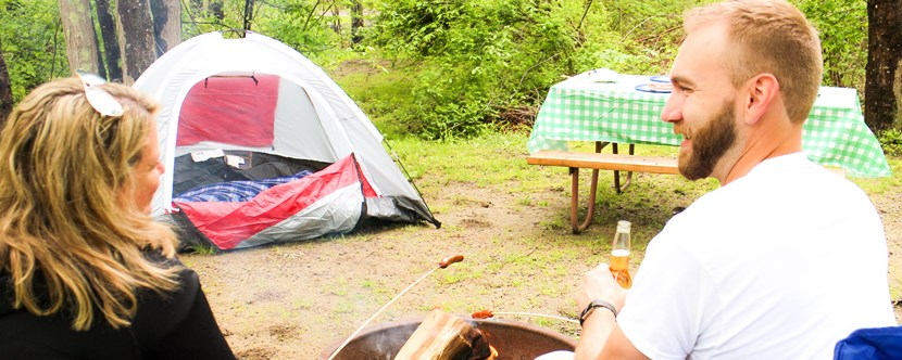 Wooded Tent Sites, perfect for getting away from it all