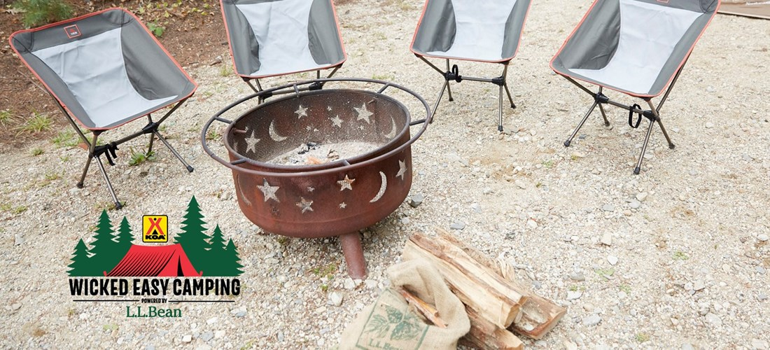 Wicked Easy Camping Chairs and Fire Ring