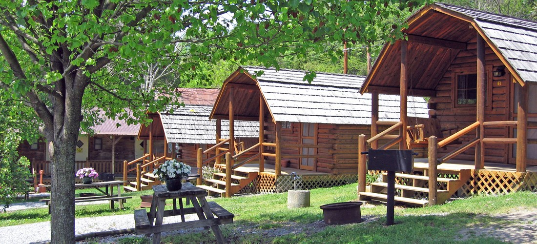 Rustic Cabins without Bathroom