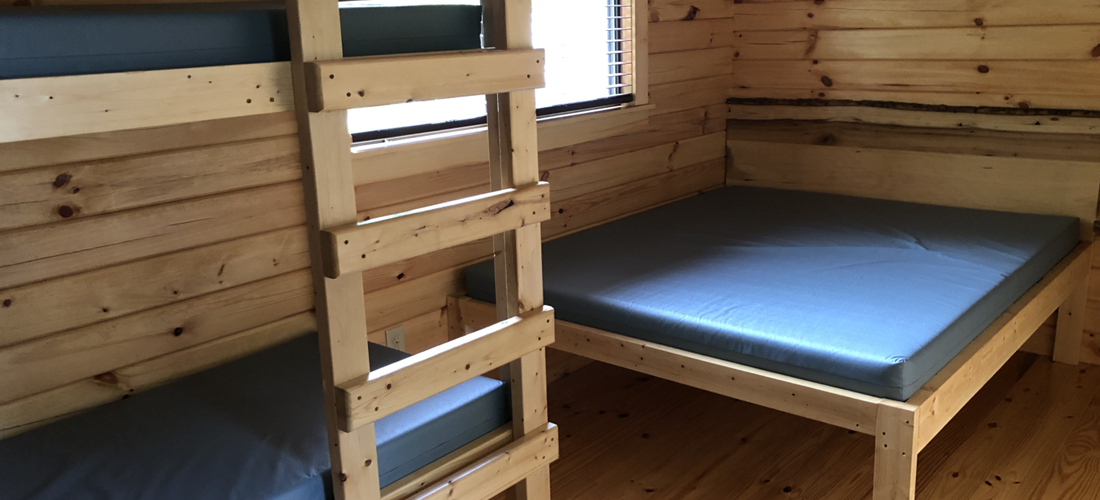 full and bunk beds