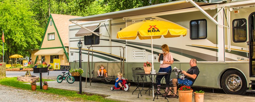 Enjoy our spacious full-hookup RV Sites