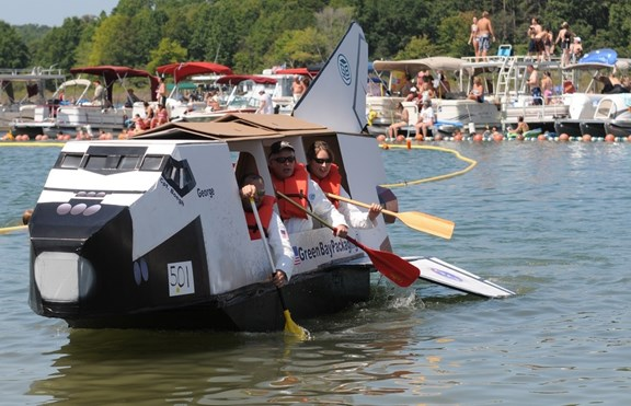 CARDBOARD BOAT RACES WEEKEND....