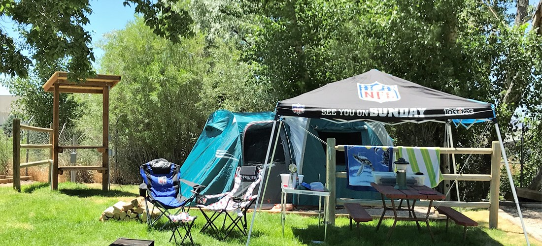 Deluxe Tent Sites with all the amenities to make your stay great!