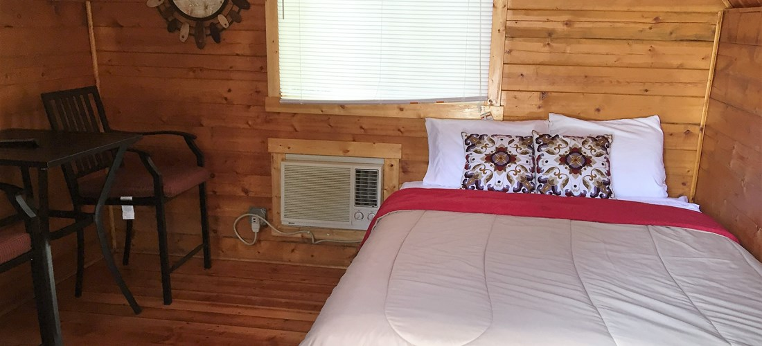 Inside Couple's Cabin Bed