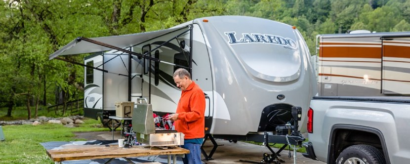Large RV sites, great for entertaining