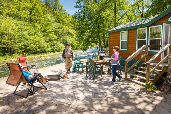 Deluxe Cabins with views and the comforts of home