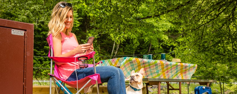Enjoy Wi-Fi at Cherokee KOA