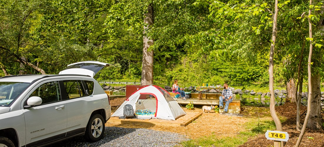 Tent Camping in Cherokee, NC and The Great Smoky Mountains ...
