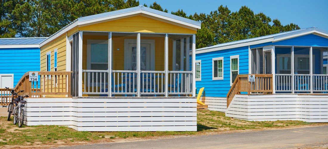 At Chesapeake Bay KOA our handicap accessible cabins have great amenities like screened porches and full kitchens.