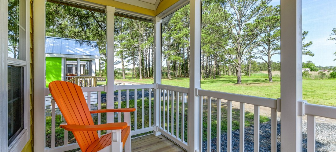 Chincoteague Island KOA Island Bungalow Porch