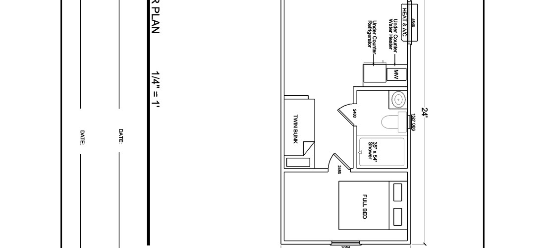 Floor Plan of Cabins 1 and 2