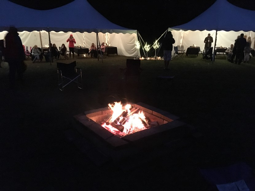 Central fire pit & Serving Tents