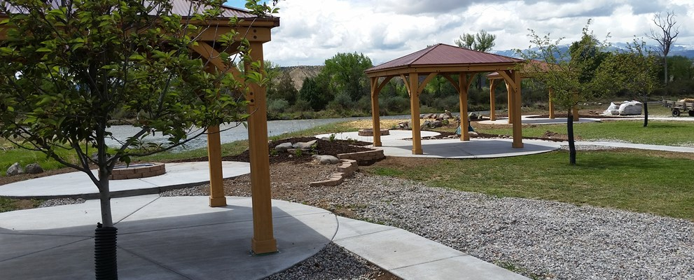 New Deluxe Patio Sites on the Colorado River