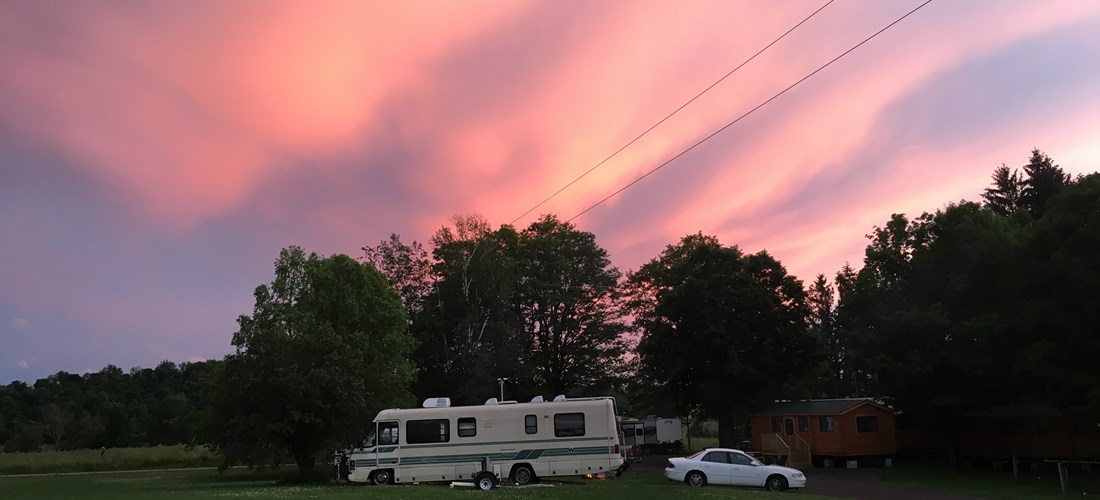 Great location for family reunions - RV, deluxe cabin, and tent sites all near one another