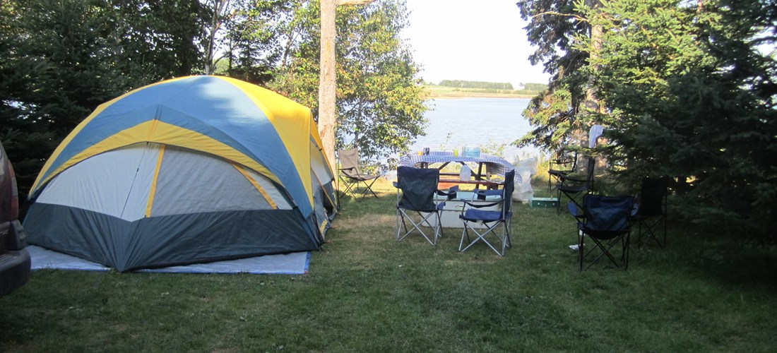 waterfront tenting site