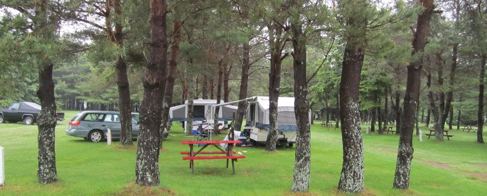 Water and tent sites