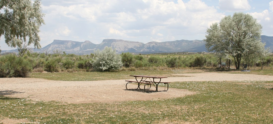 Primitive Tent Sites with Mesa Verde National Park Views