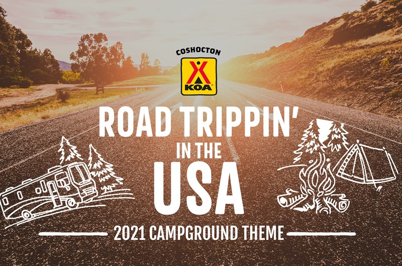 Road Trippin' in the USA - 2021 Campground Theme Photo