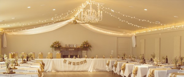 Banquet Hall in the Indoor Event Centre Decorated for a Wedding