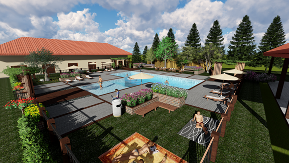 Concept of the pool, opening Memorial Day Weekend 2017!