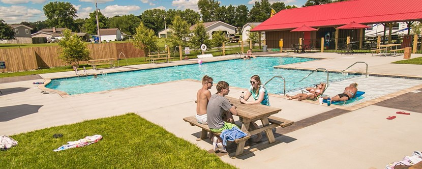 Hang out with friends & family by our pool!
