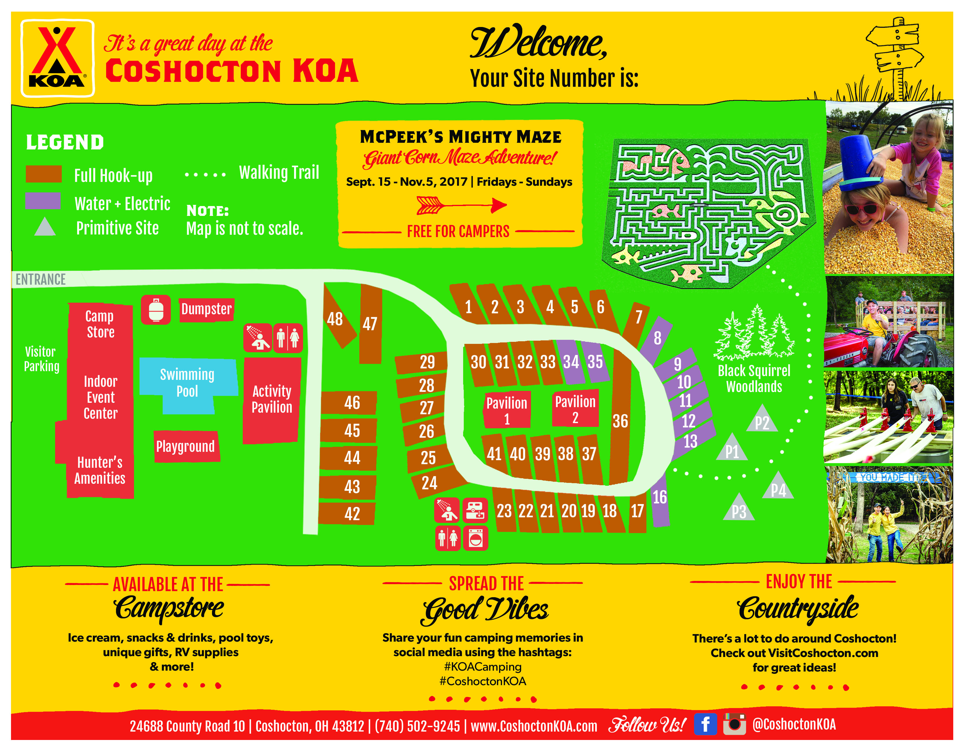 Campground Site Map