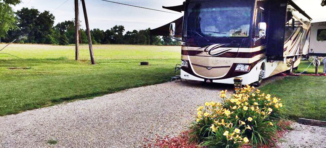 Enjoy the fresh air on a beautiful full-hookup site at Coshocton KOA!