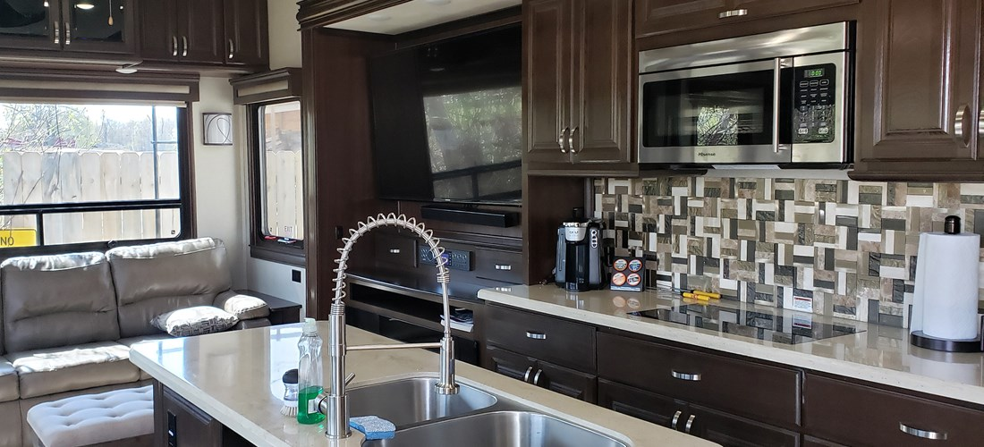 RV Rental Unit Kitchen/Couch