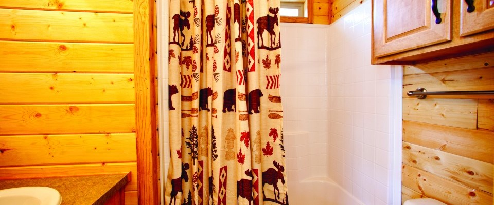bathroom of deluxe cabin