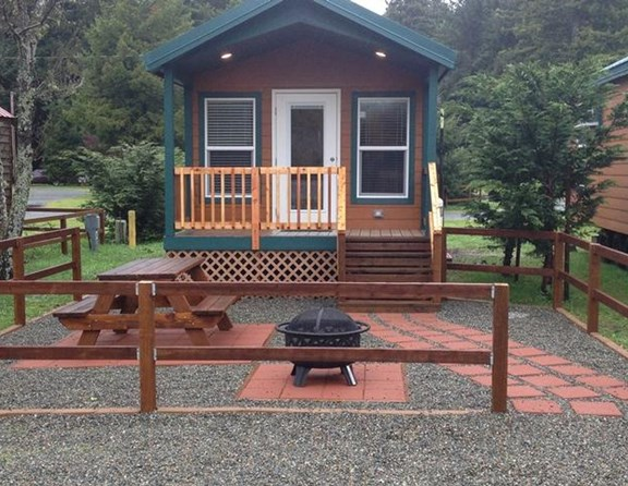 Our deluxe cabins are cozy, yet have all the amenities for more comfortable camping!