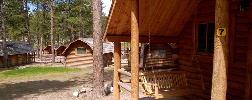 Cabins are a great way to camp