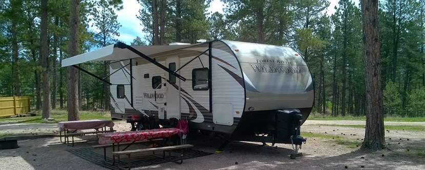 RV sites in the shade