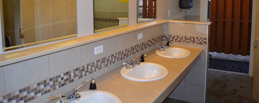Clean and comfortable bathrooms