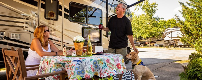 Our RV sites with KOA Patio® are great for entertaining!