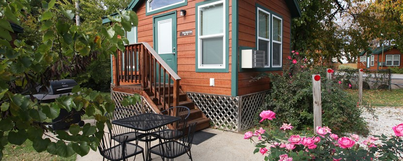 Cute Studio Deluxe Cabins with patio and grill