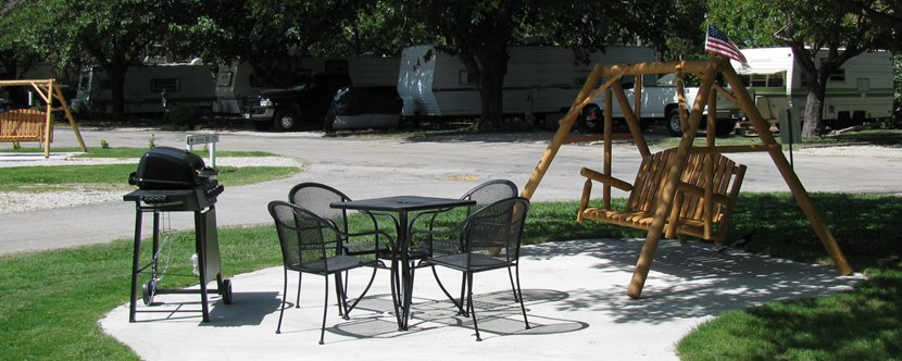 You will love our patios for some of our RV sites