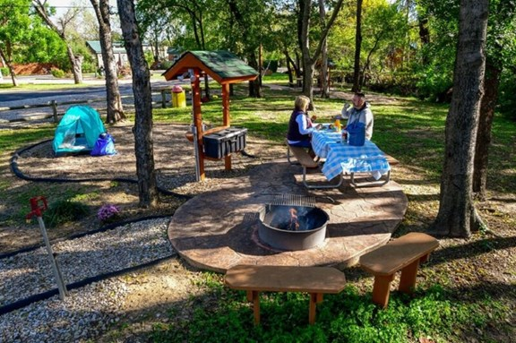 Newly remodeled tent sites