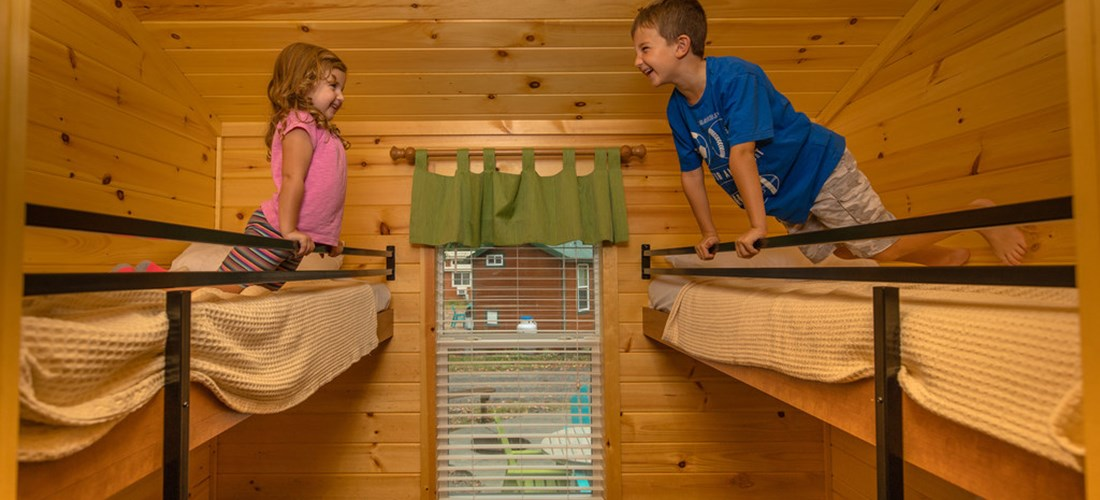 Deluxe Cabin Interior Bunk Beds