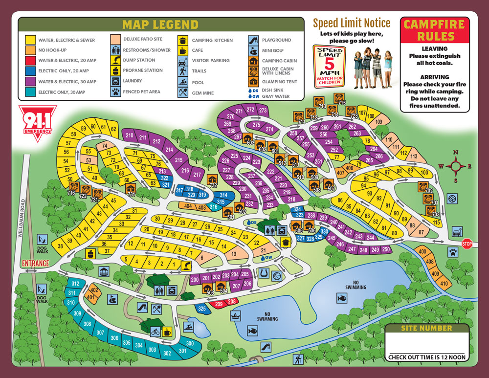 Brookville, Ohio Campground | Dayton KOA on slc map, fll map, coarsegold california map, zip code map, route map,