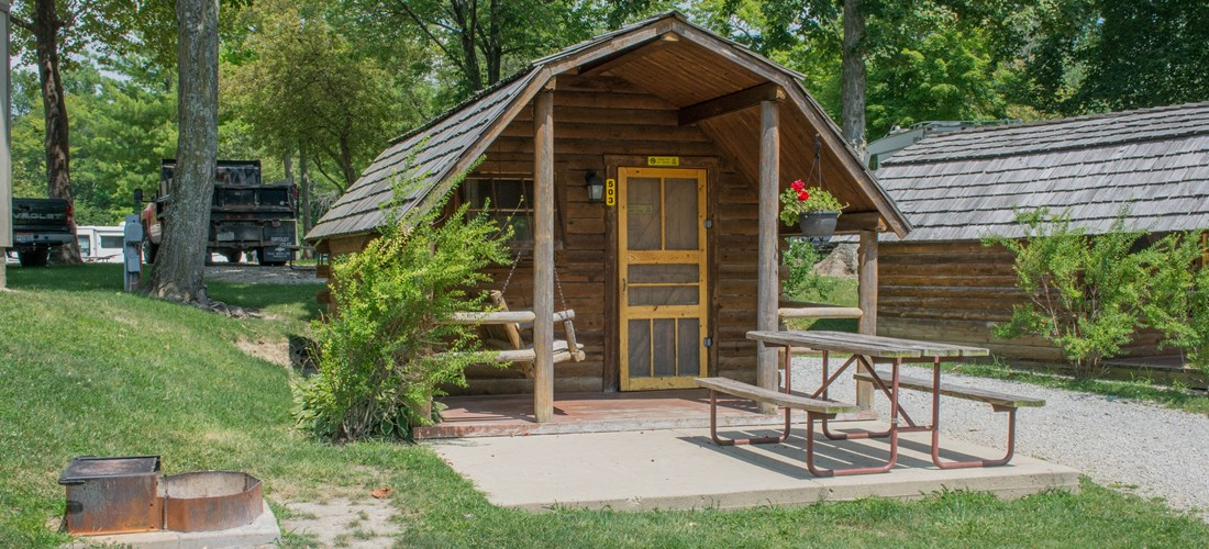 1 Room Camping Cabin Near Our Pool & Store