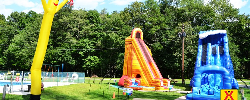 Come try out our awesome waterslides!