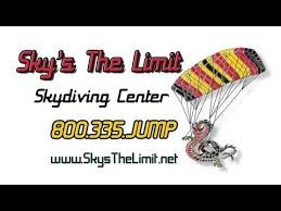 Skydiving - Sky's the Limit