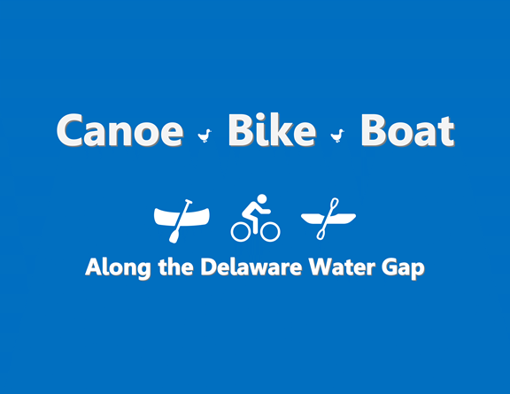 Canoeing, boating, and biking along the Delaware River